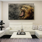 Canvas Posters Home Decor Wall Art Mane Savannah Lion Paintings For Living Room Posters Prints Abstract Animal Pictures Cuadros