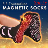 3 Pairs Self Heating FIR Tourmaline Magnetic Health Care Socks Therapies Magnetic Socks Unisex Massage Socks Regulate Blood Flow - S@Ssons