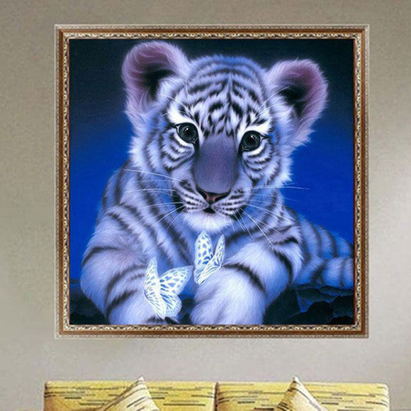 Tiger Pattern 5D DIY Diamond Embroidery Painting Home Office Room Wall Decor - S@Ssons