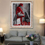 Beauty Lady 5D DIY Diamond Embroidery Painting Home Room Cross Stitch Wall Decor - S@Ssons
