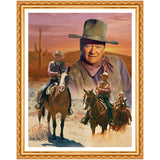 5D DIY diamond embroidery John Wayne Celebrity diamond painting Cross Stitch full round Rhinestone  decoration