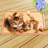 Prajna Latch Hook Cushion Animals Carpet Embroidery Needlework Crochet Pillows Accessories DIY Latch Hook Rug Kit Cross Stitch