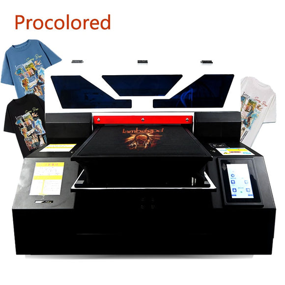 Procolored New Textile DTG Printers A3 Print Size for T Shirt Clothes Jeans Tshirt Printing Machine Garment A4 Flatbed Printer