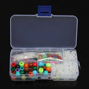 DIY Bracelet UV Changing Color Bead Pony Bead Box Set With Clip Hook - S@Ssons