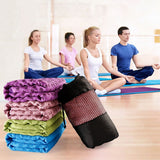 YOUGLE Non Slip Yoga Mat Cover Towel Blanket For Fitness Exercise Pilates Training
