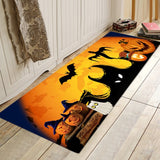 Halloween Party Series Printing Flannelized Floor Cushions Door Bathroom Mat Set Household Bathroom Rug Set Bathroom Carpet