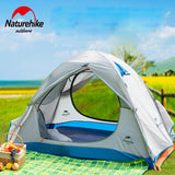 Naturehike 2-3 Person Double Door Waterproof Beach Tent Double Layer NH Outdoor One Bedroom Camping 2 Colors