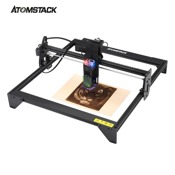 ATOMSTACK A5 20W Laser Engraver CNC Quick Assembly 410*400mm Carving Area Full-metal Structure Fixed-focus Laser Eye Protection