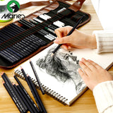Sketch pencil set charcoal full set of student entry tools painting professional beginner drawing art supplies - S@Ssons