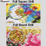 "Dispaint Full Square/Round Drill 5D DIY Diamond Painting ""Sunset beach scenery""3D Embroidery Cross Stitch 5D Home Decor A10346 - S@Ssons"