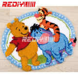 3D Latch Hook Rug Kits DIY Needlework Unfinished Crocheting Rug Yarn Cushion Mat Cartoon Friends Embroidery Carpet Free Shipping - S@Ssons