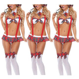 2017 New Fashion Costumes Ladies Womens School Girl Sexy Lingerie Uniform Halloween Cosplay Fancy Dress