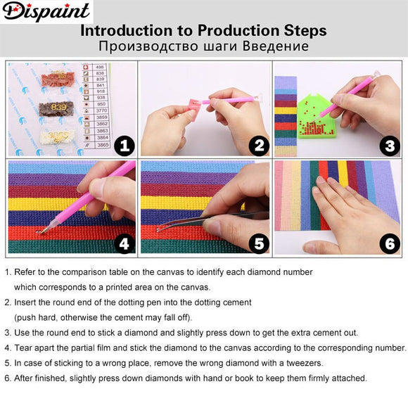 Dispaint Full Square/Round Drill 5D DIY Diamond Painting