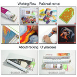 Diy Diamond Painting Cross Stitch Needlework Diamond Mosaic Kits Diamond Embroidery Magnolia Morning Pattern Hobbies And Crafts
