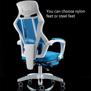 Gaming Chair with Footrest Massage Lifted Gaming Chair Rotation and Reclining Office Chair - S@Ssons