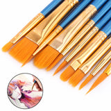 50Pcs Paint Brush Set Oil Painting Watercolor Brush Art Supplies Painbrush Set Paiting Acrylic Artist Brush Stationery Supplier - S@Ssons