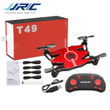 JJR/C JJRC T49 SOL Ultrathin Wifi FPV Selfie Drone 720P Camera Auto Foldable Arm Altitude Hold RC Quadcopter VS H49 E57 H37 - S@Ssons