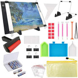 133PCS 5D Diamond Painting Tools A4 LED Light Pad Kit,DIY Dimmable Light Brightness Board Roller and Embroidery Box 5FM - S@Ssons