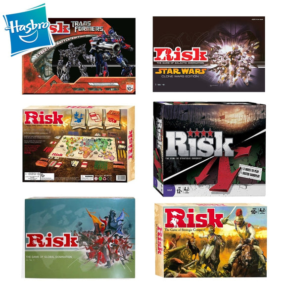 Hasbro Risk Game Six Strategic Conquer English Card Party Games Multiplayer Interactive Board