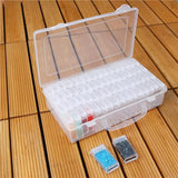 64 Slots Bottles Diamond Painting Storage Box Plastic Nail Art Organizer Rhinestone Beads Case Holder Container Kits - S@Ssons