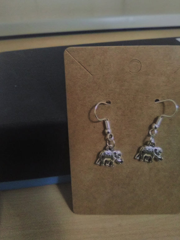 Elephant handmade earrings