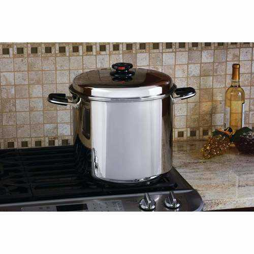 24qt 12-Element ''Waterless'' Stockpot with Deep Steamer Basket - S@Ssons