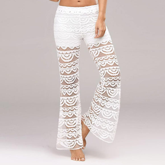 Women Flare Lace stitching trousers - S@Ssons