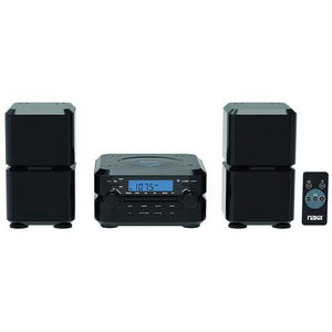 NAXA Electronics Wireless Bluetooth Digital CD Microsystem with LCD Display in Black - S@Ssons