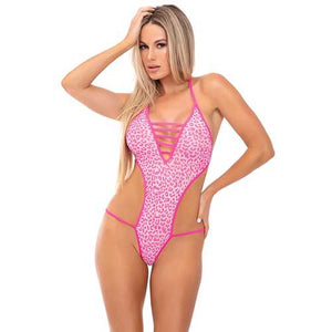 Pink Lipstick V is for Vixen Bodysuit Pink S/M - S@Ssons