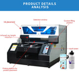 PUNEHOD A3-19N Thermal/Label Printers 3D Sublimation UV Photo Multifunction Laser/Inkjet Printer Color T Shirt Printing Machine