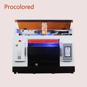 Procolored DTG Printer Automatic LED UV Flatbed Printers A3 A4 Print Size For Tshirt Phone Case Wood Bottle Printing Machine