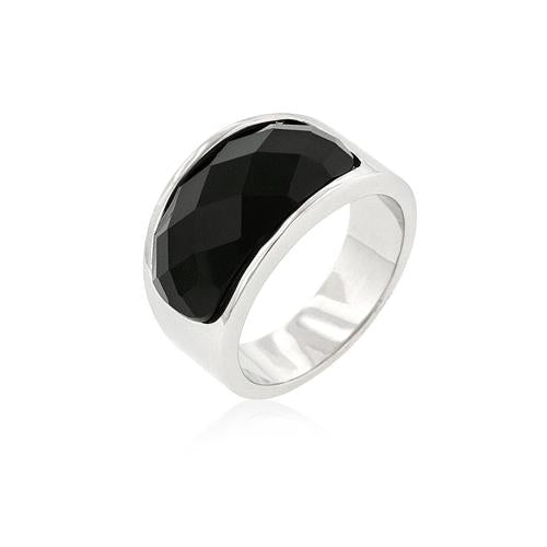 Onyx Block Cocktail Ring - S@Ssons