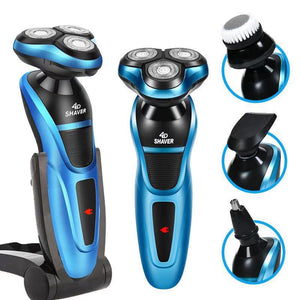 USB car multi-function body wash electric shaver 4d three-headed rechargeable men's beard knife - S@Ssons
