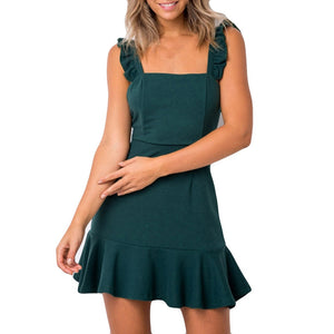 Women Short Sleeve Regular O-Neck Straight Casual Dress - S@Ssons