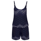 Women Summer wear Sleeveless Printed short Playsuit - S@Ssons