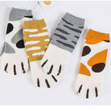 Women's Cute Kitty Cat Paws Prints funny socks On Toes - S@Ssons
