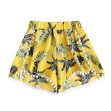 Fashion Pineapple Printed Loose Shorts Women summer Mid Waist Shorts - S@Ssons
