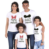 casual wear Family suitable Clothes Daddy Mama very small Mouse Mommy & Me small Tshirt Printing Woman lovish style Baby Girl Dress Big Sister - S@Ssons