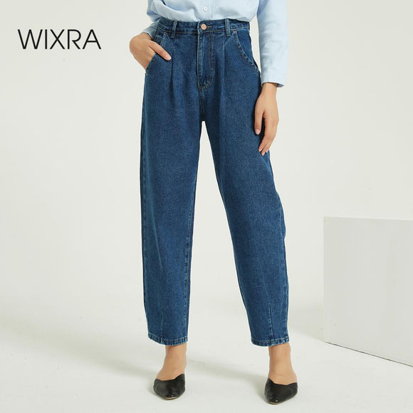 Wixra Women Harem Denim Jeans Pants Ladies Casual Bottoms Female Trousers Autumn Winter High Waist Trousers - S@Ssons