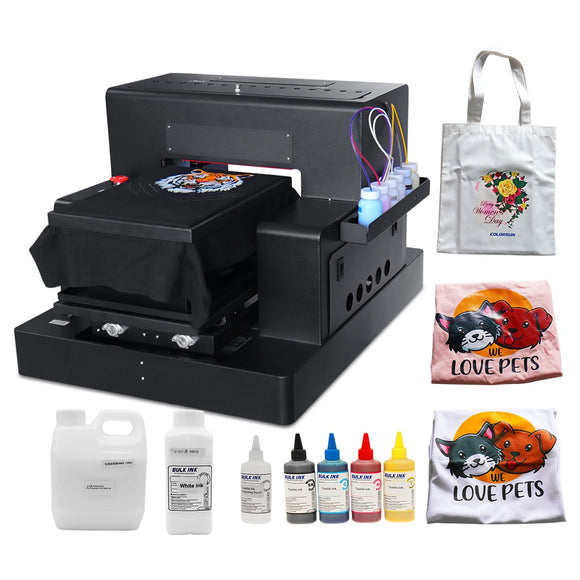 Automatic A3 Flatbed Printer DTG Printer T-shirt Printing Machine For Dark And Light T-shirt Baby Clothes Printing Machine A3