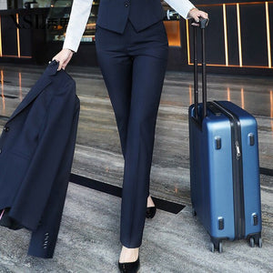 Women Spring Autumn High Stretch Pocket Shaping Dress Pants Office Casual Trousers Lady Suit Pants Women Trousers 2020