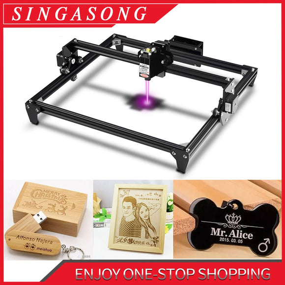 Totem CNC Laser Engraving Machine 300x400mm Big Area 2.5/5.5W Fast Speed cutting machine tool carving wood/Leather/Metal/Acrylic
