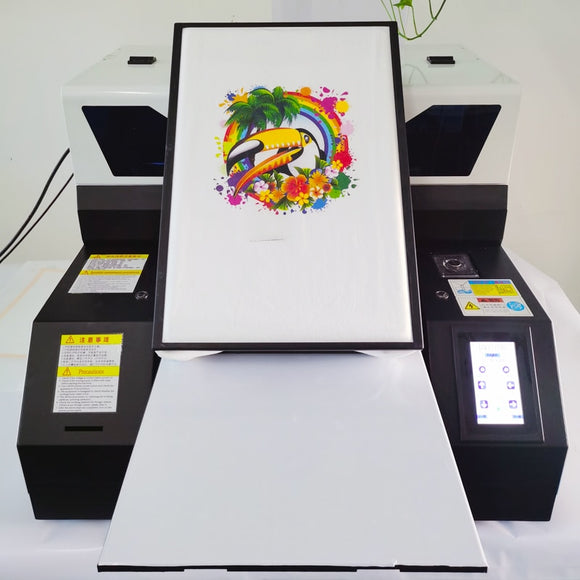 Punehod Factory Price UV DTG Flatbed Printer A3 Size 6 Colors Cmyk+WW Tshirt Printer For Epson R1390 Printhead