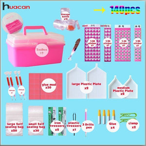 140pcs/set Diamond Embroidery Accessories 5D DIY Diamond Painting Cross Stitch Tools Full Kits Rhinestones Boxes Cases - S@Ssons