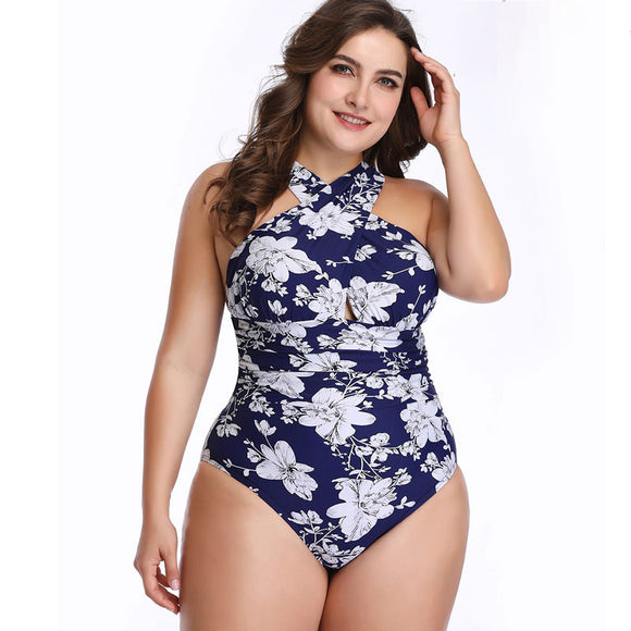 single piece bathing dresss young lady one sized bathing dress single piece Russian USA swim swimming dresss beach bathing wear flower-patterned color - S@Ssons