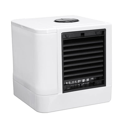 Mini USB Portable Air Conditioner (Pairs With Solar Charger) - Air Cooler Humidifier Purifier 7 Colors LED Light