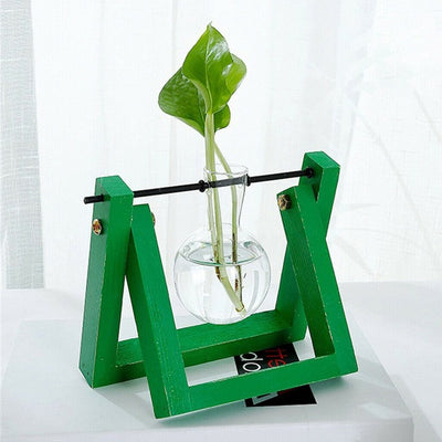 Hydroponics Essential Glass Planter - Choose Different Painted Colors!