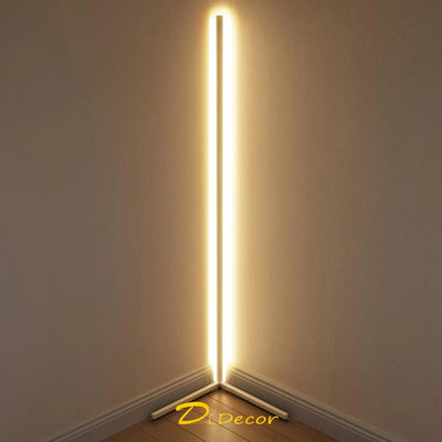 "Ambient Corner LED Floor Lamp - 55"" (Changes Color With Remote)"