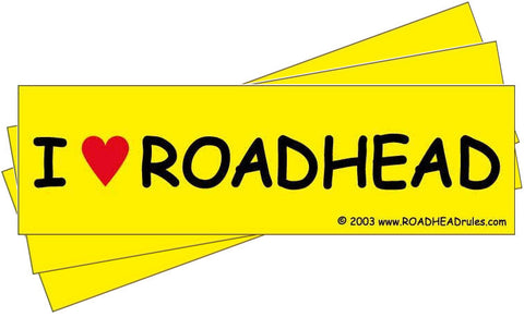 I LOVE ROADHEAD Stickers (3 for $1.99)