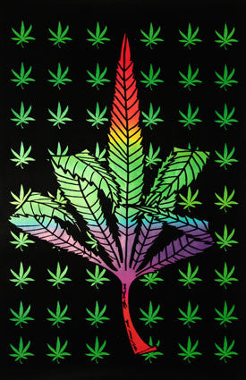 Weed Finger (Blacklight) - Poster